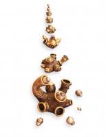 3 - Objektų ciklas ,,Metamorfozė'' (bronza, sidabravimas, 7,5x9x8cm-didžiausia)